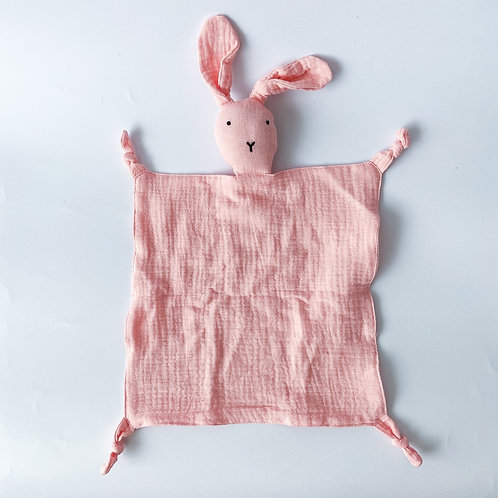 Personalised Bunny Hankie - Baby Pink