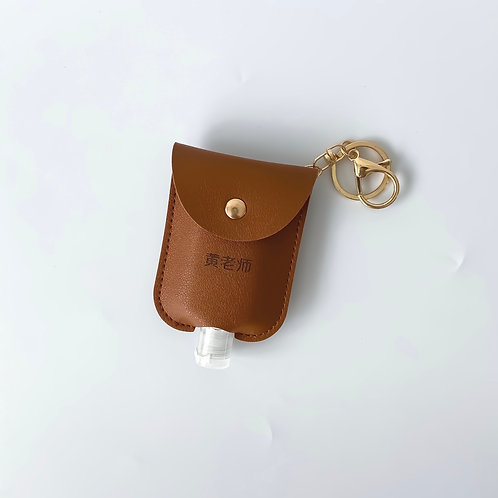 Personalised Sanitizer Pouch - Dark Brown