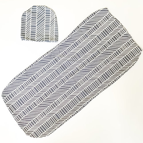 Swaddle Cocoon + Hat Set - Stripes