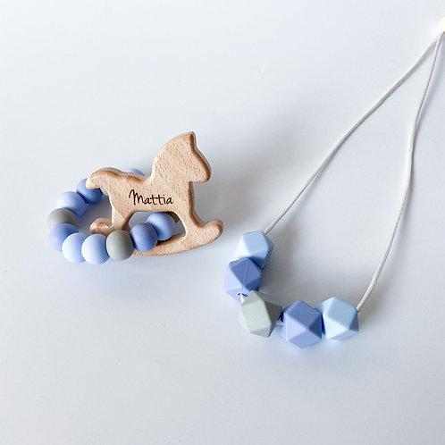 Personalised Mum+Bub Matching Teether Set