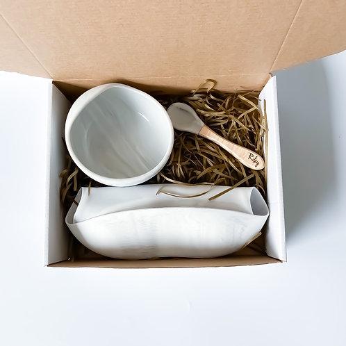Silicone Bowl + Silicone Bib Set