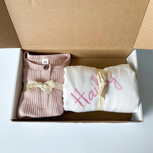 Baby Sleepsuit + Swaddle Set