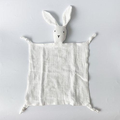 Personalised Bunny Hankie - White