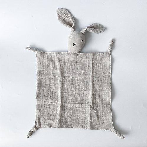 Personalised Bunny Hankie - Morning Grey