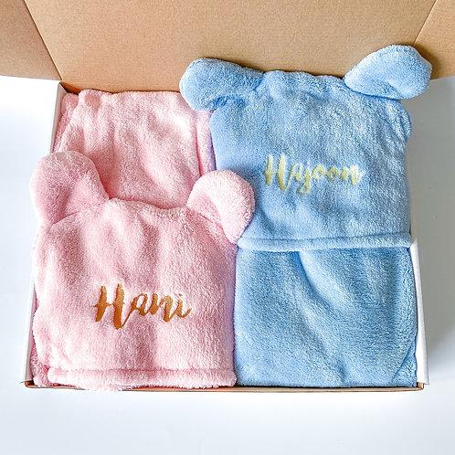 Personalised Hooded Towel Set