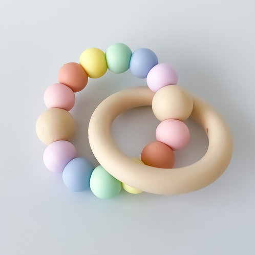 Birch Ring Round Silicone Teether
