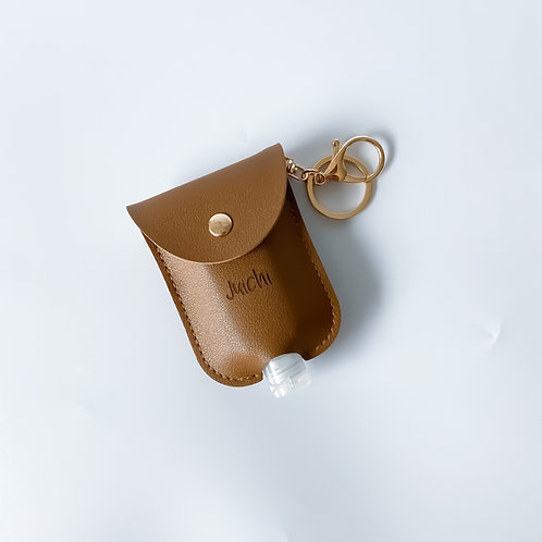 Personalised Sanitizer Pouch - Light Brown