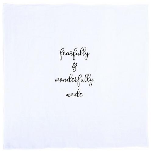 """""""Fearfully & Wonderfully Made"""" Swaddle"""