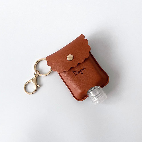 Personalised Sanitizer Pouch - Tan