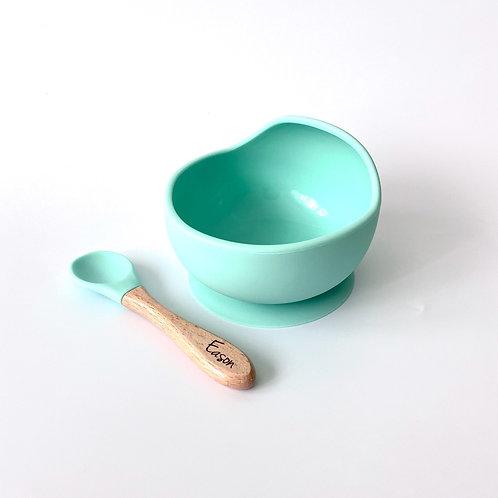 Silicone Feeding Set - Mint