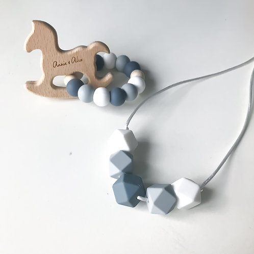 Mum+Bub Matching Teether Set