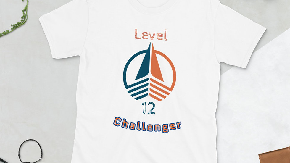 Level 12 CHALLENGER Short-Sleeve Unisex T-Shirt Front Print Only
