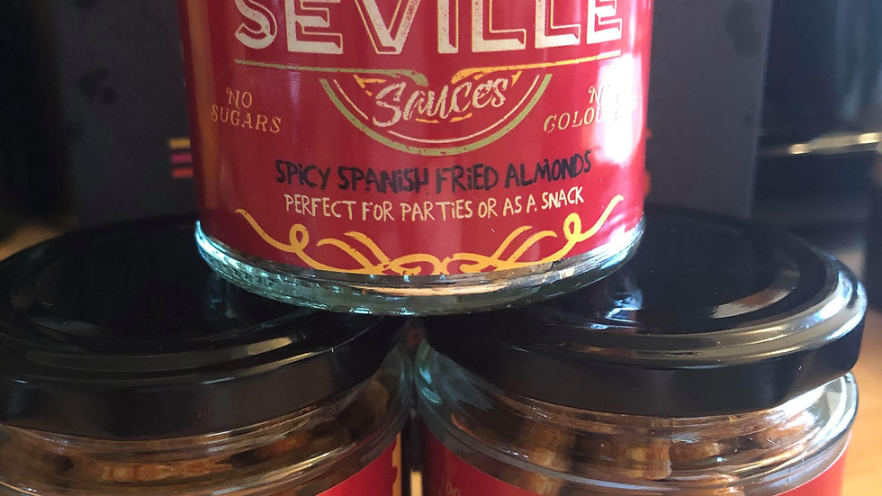 Spicy Spanish fried almonds
