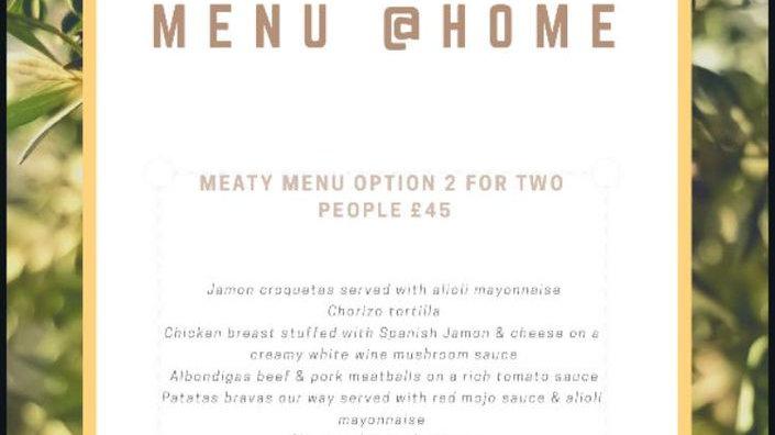Meaty menu