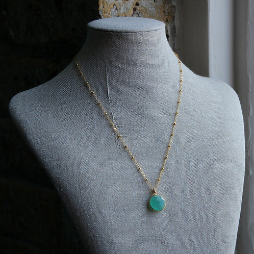 Round Chalcedony Necklace