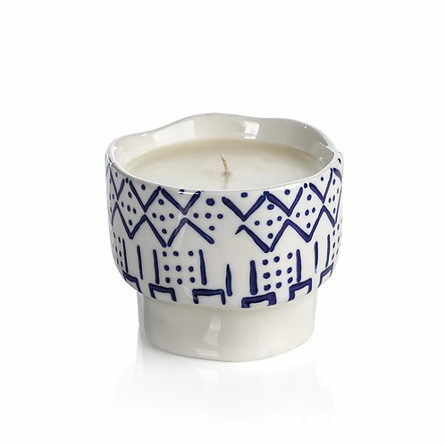 Line & Dot Patterned Candle