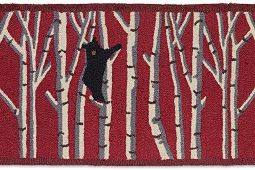 Hooked Wool Rug -Bear in Birch