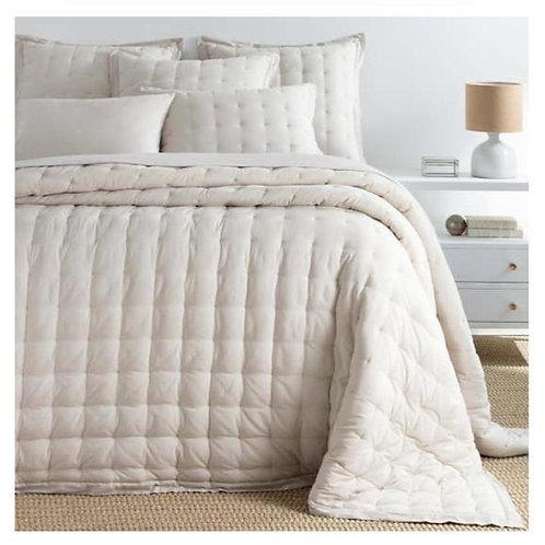 Comfy Cotton Bedspread - Natural Puff