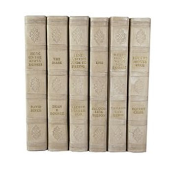 Set of 3 Leatherbound Decorative Books