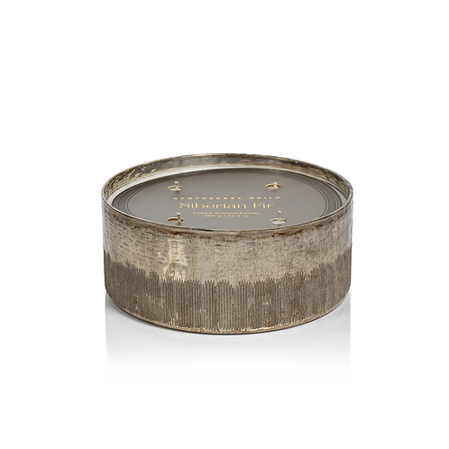 Siberian Fir 4 Wick Candle - Silver