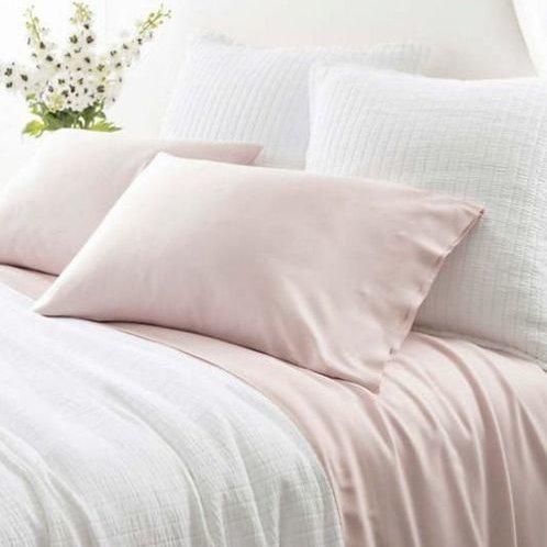 Silken Solid Sheet Set - Slipper Pink