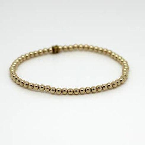 Mini Beaded Bracelet - Gold