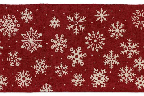 Hooked Wool Rug -Frosty Flakes