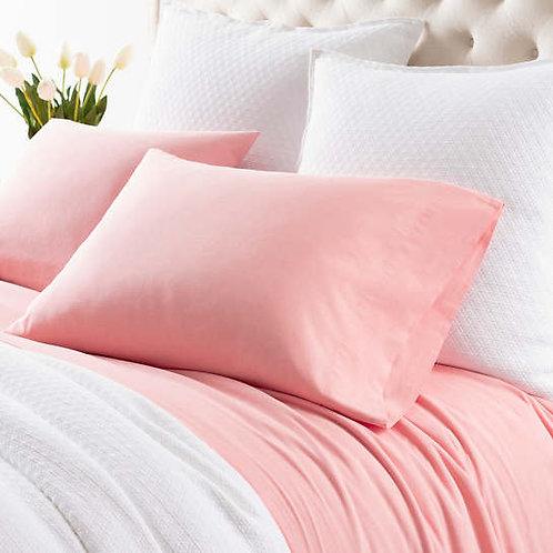 Comfy Cotton Sheet Set - Coral