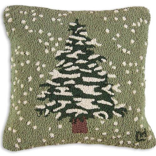 Hand Hooked Wool Pillow - Flurries