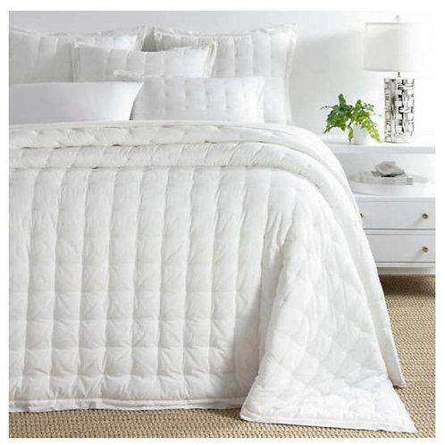 Comfy Cotton Bedspread - Dove White Puff