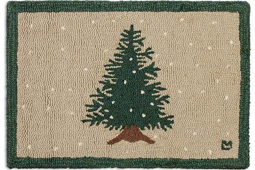 Hooked Wool Rug - One Little Tree