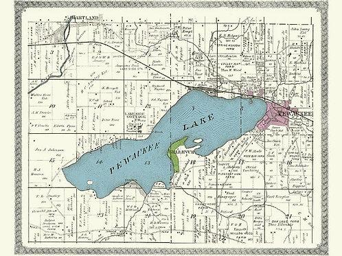 Pewaukee Lake Map