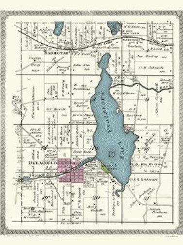 Nagawicka Lake Map