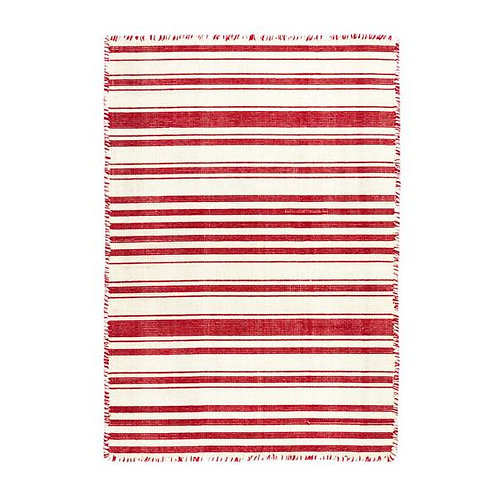 Hampshire Stripe Red Runner - 2.5X8