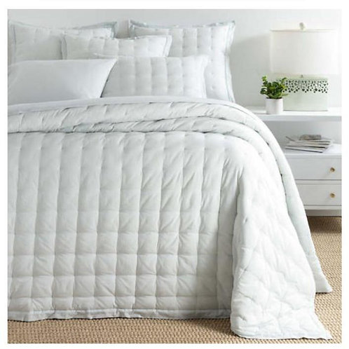 Comfy Cotton Bedspread - Sky Puff