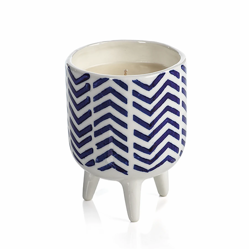 Chevron Patterned Candle