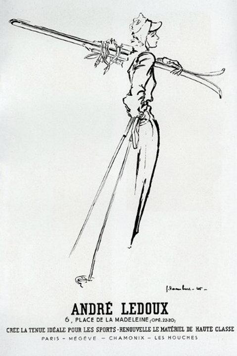 Vintage French Skier