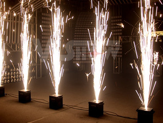 A DJ Connection now offers Cold Spark Fireworks Fountains for rent in Pensacola Florida