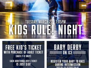 Kids Rule Tues March 27th 2018