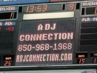 A DJ Connection provides lights and effects for Pensacola Ice Flyers