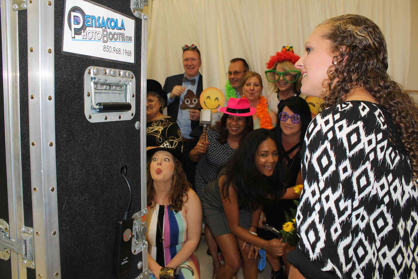 Emma with Pensacola Photo Booth