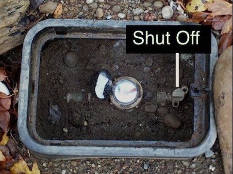 How to shut off water