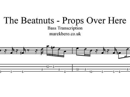 The Beatnuts - Props Over Here - basová transkripce