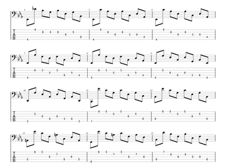 J.S.Bach - Suite IV Prelude pro pěti-strunnou baskytaru