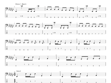 Orianthi - Sinners Hymn - bass transcription