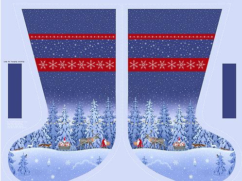 Tomtens Christmas - Stocking Panel