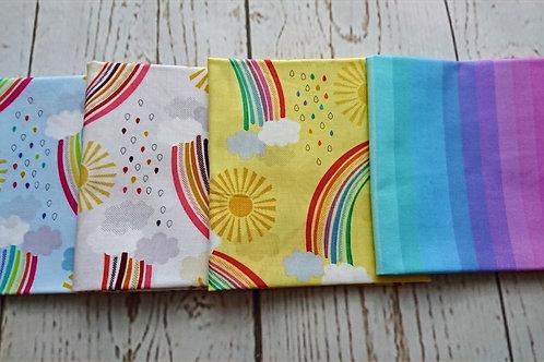 Rainbows Fat Quarter Bundle - 4 Pieces of fabric
