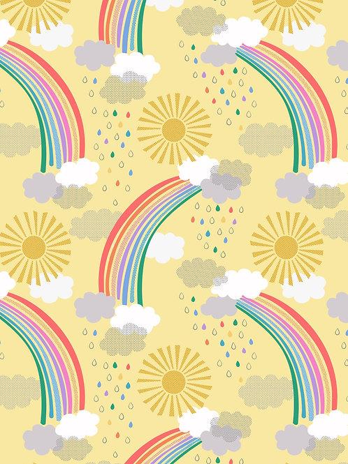 Bright rainbows on yellow