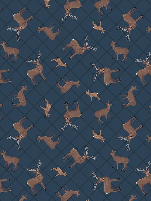 Dark Blue Deer Check - Loch Lewis