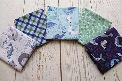 Iona - North Seas Fat Quarter Bundle - 5 Fabric Pieces